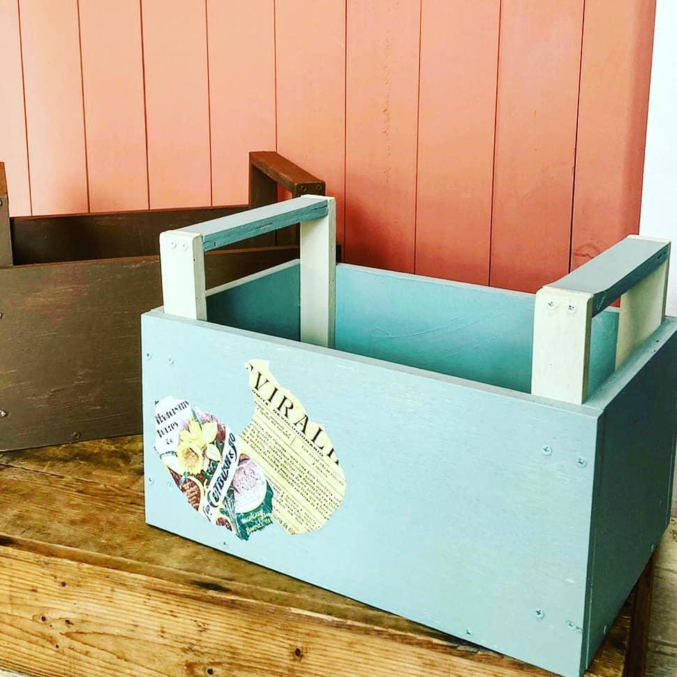 コラージュが楽しめる「手持ち木箱」個別で作れます!
